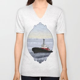Tugboat Unisex V-Neck