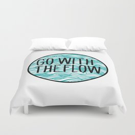 Go With The Flow Waves Duvet Cover