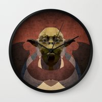 yoda Wall Clocks featuring Yoda by lazylaves