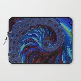 Blue Spiral Laptop Sleeve