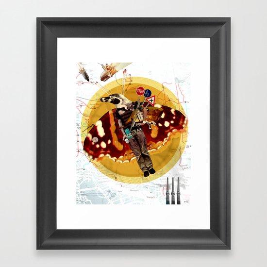 Pinguin Man wants to fly... Framed Art Print