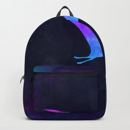PTERODACTYL IN SPACE // Dinosaur Graphic Art // Watercolor Canvas Painting // Modern Minimal Cute Backpack