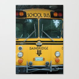 Bainbridge School bus Canvas Print