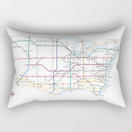 Interstate Highways as a Subway Map Rectangular Pillow