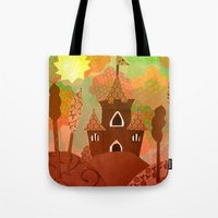 castle Tote Bags featuring Castle by Ingrid Castile