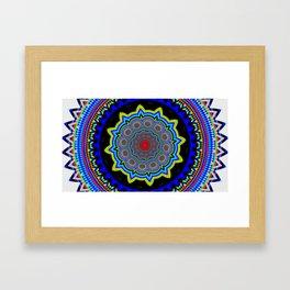 Zoom Mandala Framed Art Print