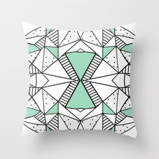 Ab Lines and Spots Mint Throw Pillow