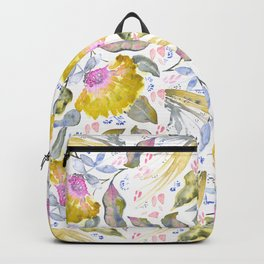 Lovelies - yellow & pink Flower pattern Backpack