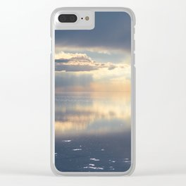 Sunset in Salar de Uyuni desert, Bolivia Clear iPhone Case