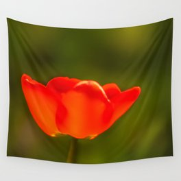 La tulipe orange Wall Tapestry