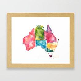 Watercolour Australia Framed Art Print