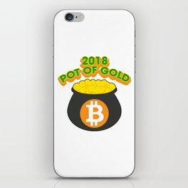 2018 Pot Of Gold Bitcoin St Patricks Day iPhone Skin