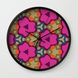 Flower-Caleidoscope Wall Clock