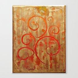 Pompeii Red (encaustic painting) Canvas Print