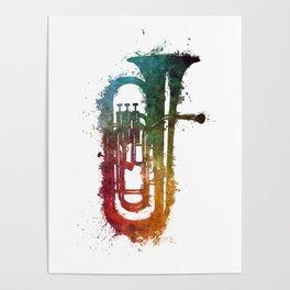 euphonium music art Poster