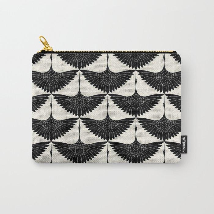 CRANE DESIGN - pattern - Black and White Tasche