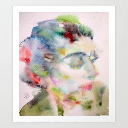 MARIA CALLAS - watercolor portrait Art Print