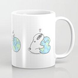 Mochi the pug celebrating Earth day Coffee Mug