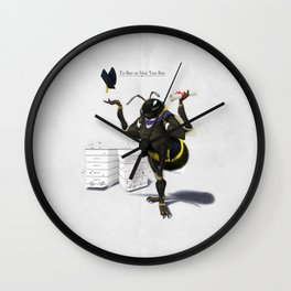 To Bee or Not Too Bee Wall Clock