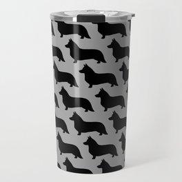 Cardigan Welsh Corgi Silhouette Travel Mug