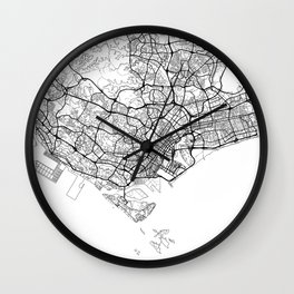 Singapore Map White Wall Clock