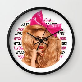 Alyssa Edwards - Circle Wall Clock