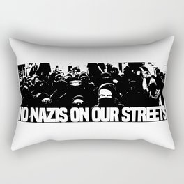 No nazis on our streets Rectangular Pillow