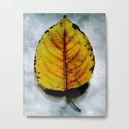 The Falling of the Leaves Metal Print