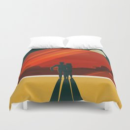 THE MOONS OF MARS - Phobos & Deimos | Space | X | Retro | Vintage | Futurism | Sci-Fi | Two Duvet Cover
