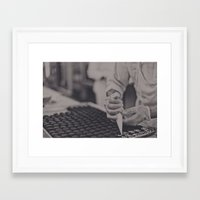 baking Framed Art Prints featuring baking... by azyalg
