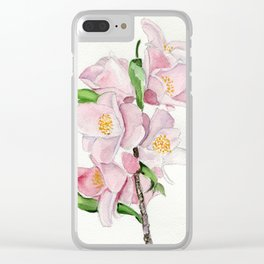 Blushing Beauties Clear iPhone Case