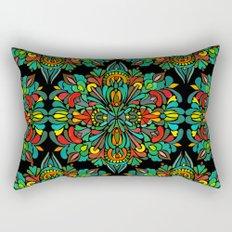 Green red orange pattern Rectangular Pillow
