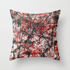 Imogene in Red Throw Pillow