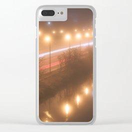 Winter Fog #4 Clear iPhone Case