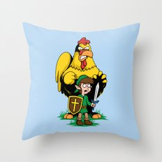 The Legend of Ernie (light background) Throw Pillow
