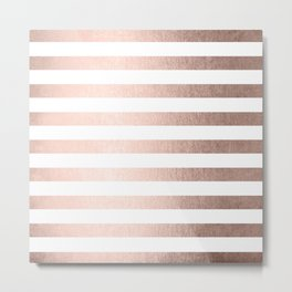 Simply Striped Moon Dust Bronze Metal Print