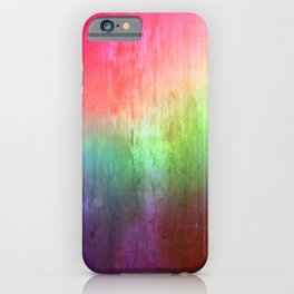 Visitor - colorful distressed abstract iPhone Case