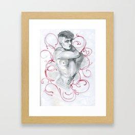 Man and Swirls Framed Art Print