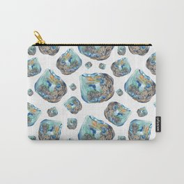 Opal October Birthstone Watercolor Illustration Carry-All Pouch