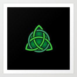 celtc knot symbol Art Print