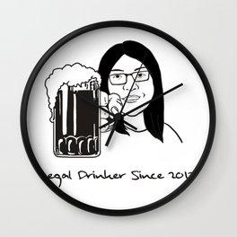 Legal Drinker Since 2017 Wall Clock