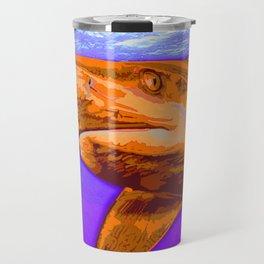 Painted Shark, Orange Travel Mug