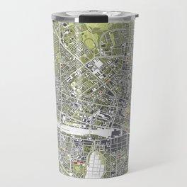 Munich city map engraving Travel Mug
