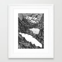 moby Framed Art Prints featuring Moby Dick by GRZNYC