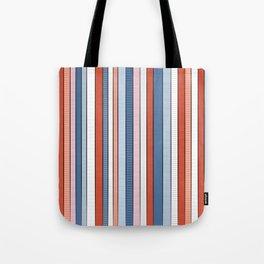 Striped pattern Colorful Stripe design - red, blue, white, orange Tote Bag
