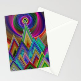 Summer Night at the Mountains Stationery Cards