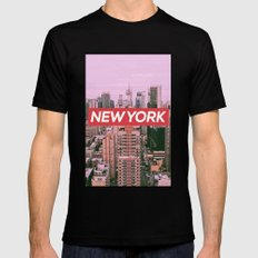 New York City (Vintage Collection) MEDIUM Black Mens Fitted Tee