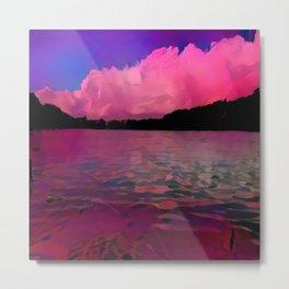 A Redder Lake and Sky Metal Print