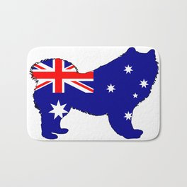 Australian Flag - Samoyed Bath Mat