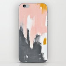 Gray and pink abstract iPhone & iPod Skin